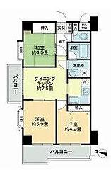 ライオンズマンション浦和第5[2階]の間取り