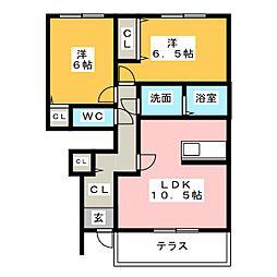 サクシード[1階]の間取り