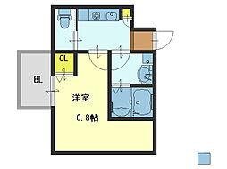 Siete IKUNO-HIGASHI[2階]の間取り