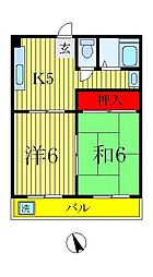 高野マンション[3階]の間取り