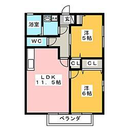 御料所ガーデン[1階]の間取り