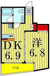 リフレックスナカネ2[4階]の間取り