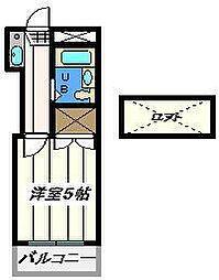 東京都江戸川区北小岩8丁目の賃貸アパートの間取り