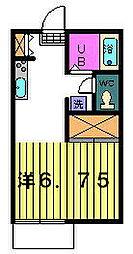 プチハウス[1−B号室]の間取り