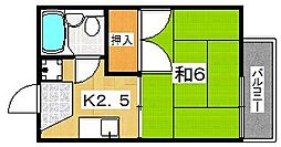 麻野ハイツ[2階]の間取り