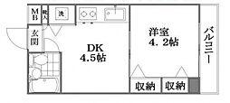 コムーネ八王子片倉[2階]の間取り