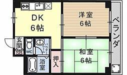 第16洛西ハイツ瀬田[410号室号室]の間取り