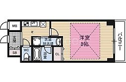レジュールアッシュ大阪城EAST[9階]の間取り