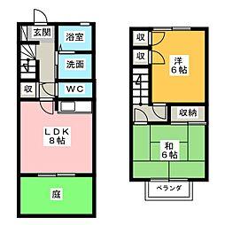 [テラスハウス] 静岡県浜松市南区増楽町 の賃貸【/】の間取り