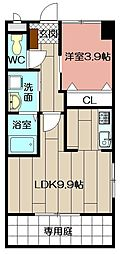 (仮)北方三丁目ペット可新築アパート[101号室]の間取り
