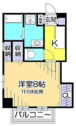 レジディア国分寺[6階]の間取り