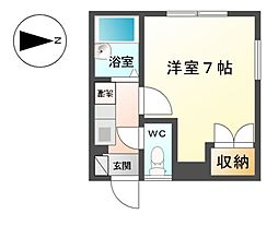 静岡県三島市南本町の賃貸アパートの間取り