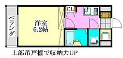 ラ・コート・ドール津田沼[502号室]の間取り