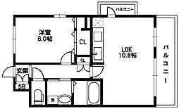アドバンス新大阪III[6階]の間取り