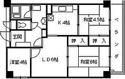 夙川エクセル[204号室]の間取り