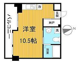 リエス千葉新宿[6階]の間取り