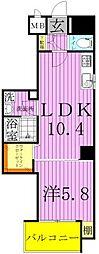 TOKYO Hightower[13階]の間取り