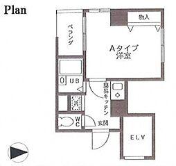 銀杏館[4階]の間取り