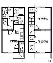 [テラスハウス] 神奈川県小田原市中村原 の賃貸【/】の間取り