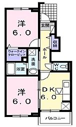 ふる〜る町田[1階]の間取り