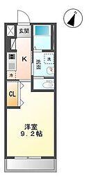 木更津市真舟5丁目新築アパート[203号室]の間取り