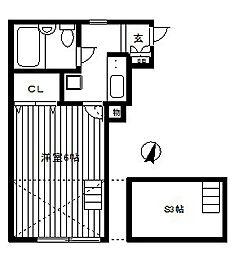 アルファスペース[1階]の間取り