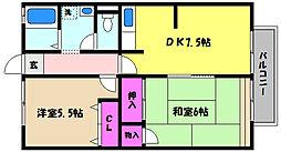 シティハイム 福寿[1階]の間取り