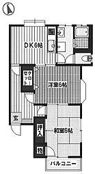 ハーモニーハイツ[2階]の間取り