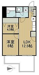 田無本町パレス[3階]の間取り