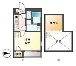 愛知県名古屋市中川区三ツ屋町2丁目の賃貸マンションの間取り