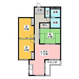 コンフォートYAMATO[3階]の間取り