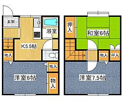 [テラスハウス] 兵庫県尼崎市富松町3丁目 の賃貸【/】の間取り