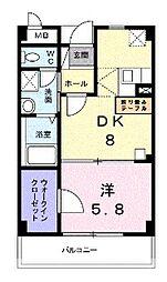 アンソレイエ[6階]の間取り