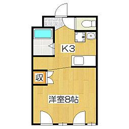 槙島センタービル[502号室]の間取り
