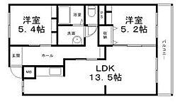 メゾン平田[2階]の間取り