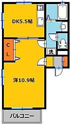 藤ハイム[1階]の間取り