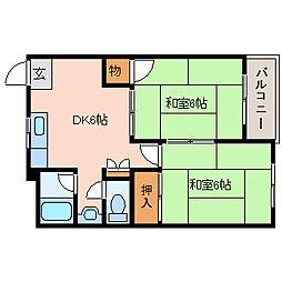 日昇マンション[3階]の間取り