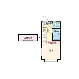 パンシオン東海大学前No.3B[2階]の間取り