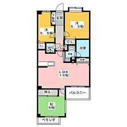 ダイアパレス御器所II[2階]の間取り