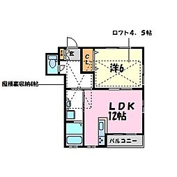 大島ハイツ[2階]の間取り