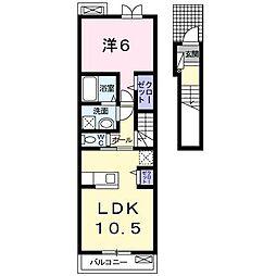シャトレ シエルIII[2階]の間取り