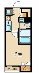東京臨海高速鉄道りんかい線 東雲駅 徒歩5分の賃貸マンション 4階1Kの間取り