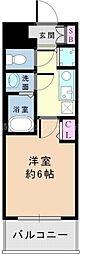 Osaka Metro御堂筋線 新大阪駅 徒歩5分の賃貸マンション 9階1Kの間取り