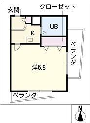 ダイヤビル矢田[3階]の間取り