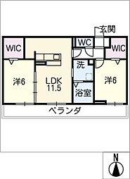 仮)D−roomときわ4丁目[2階]の間取り