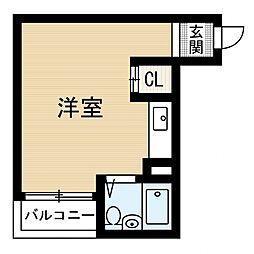 シャトル阪南[1階]の間取り