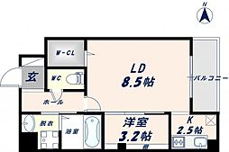 Osaka Metro千日前線 北巽駅 徒歩17分の賃貸マンション 10階1LDKの間取り