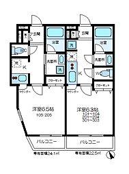 (仮)金沢町新築アパート[104号室]の間取り