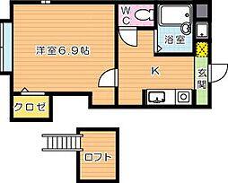パンシオンヴィラプランテ D棟[1階]の間取り