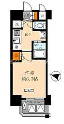 Osaka Metro谷町線 天神橋筋六丁目駅 徒歩10分の賃貸マンション 6階1Kの間取り